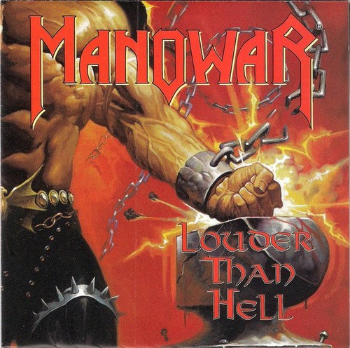 Caratula para cd de Manowar - Louder Than Hell