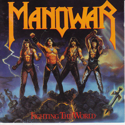 Caratula para cd de Manowar - Fighting The World