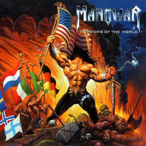 Caratula para cd de Manowar - Warriors Of The World