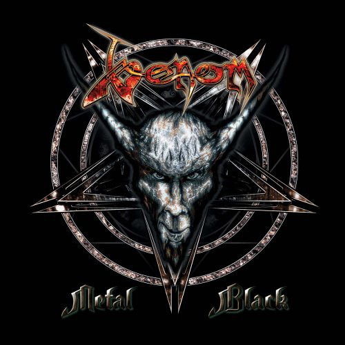Caratula para cd de Venom  - Metal Black