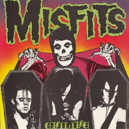 Caratula para cd de Misfits - Evilive